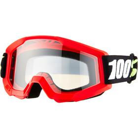 100% Strata Mini Anti Fog Clear Gafas Niños, rojo